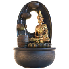 ecraftindia-golden-textured-lord-buddha-with-round-base-water-fountain_1