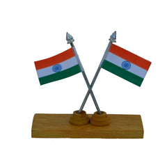 WIDPS109-eCraftIndia-Set-of-2-National-Flags-on-Wooden-Block_1