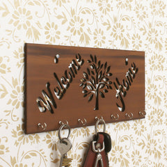 WKH514-eCraftIndia-Welcome-Home-Theme-Wooden-Key-Holder-with-7-Hooks_1
