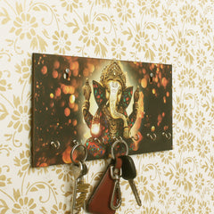WKH517-eCraftIndia-Lord-Ganesha-Theme-Wooden-Key-Holder-with-7-Hooks_1