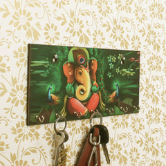 WKH518-eCraftIndia-Lord-Ganesha-Theme-Wooden-Key-Holder-with-7-Hooks_1