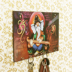 WKH527-eCraftIndia-Lord-Ganesha-Theme-Wooden-Key-Holder-with-6-Hooks_1