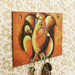 WKH530-eCraftIndia-Lord-Ganesha-Theme-Wooden-Key-Holder-with-6-Hooks_1