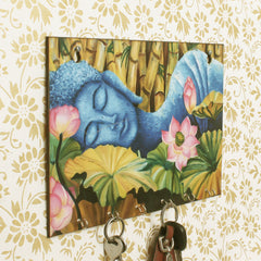 WKH533-eCraftIndia-Lord-Buddha-Theme-Wooden-Key-Holder-with-6-Hooks_1