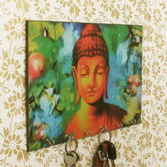 WKH534-eCraftIndia-Lord-Buddha-Theme-Wooden-Key-Holder-with-6-Hooks_1