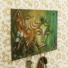 WKH535-eCraftIndia-Radhe-Krishna-Theme-Wooden-Key-Holder-with-6-Hooks_1