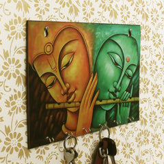 WKH536-eCraftIndia-Radhe-Krishna-Theme-Wooden-Key-Holder-with-6-Hooks_1