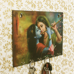 WKH537-eCraftIndia-Radhe-Krishna-Theme-Wooden-Key-Holder-with-6-Hooks_1