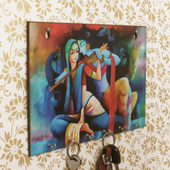 WKH538-eCraftIndia-Radhe-Krishna-Theme-Wooden-Key-Holder-with-6-Hooks_1