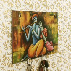 WKH540-eCraftIndia-Radhe-Krishna-Theme-Wooden-Key-Holder-with-6-Hooks_1
