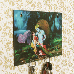 WKH560-eCraftIndia-Radhe-Krishna-Theme-Wooden-Key-Holder-with-6-Hooks_1