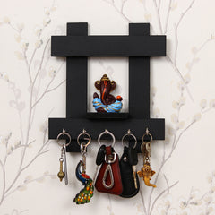 WKH601-eCraftIndia-Lord-Ganesha-Wooden-Keyholder-with-5-Key-Knobs_1