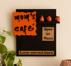 eCraftIndia Wooden Mom's Cafe Wall Hanging
