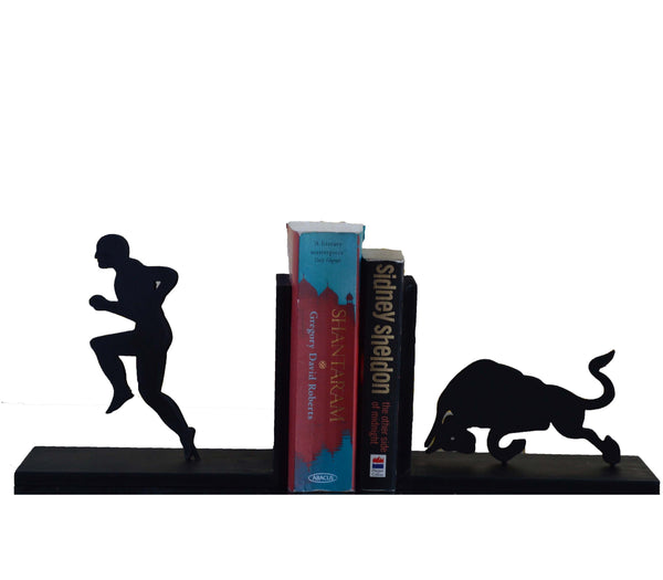 ecraftindia-bull-and-men-wooden-book-end_1