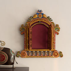 eCraftIndia Decorative Papier-Mache Wooden Jharokha Wall Hanging