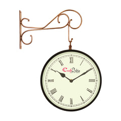 wowwacm1001_r-ecraftindia-metal-analog-round-dual-dial-hanging-station-wall-clock-copper-black-dial-size-10-inch-size-18-14-inch_1