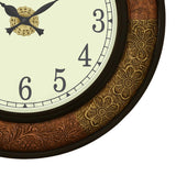 wowwacm1816_f-ecraftindia-wooden-analog-round-dual-color-metal-carving-frame-wall-clock-copper-golden-size-18-18-inch_5