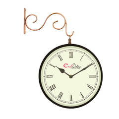wowwacm801_r-ecraftindia-metal-analog-round-dual-dial-hanging-station-wall-clock-copper-black-dial-size-8-inch-size-15-12-inch_1