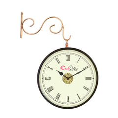 wowwacm803_r-ecraftindia-metal-analog-round-dual-dial-hanging-station-wall-clock-copper-dial-size-8-inch-size-15-12-inch_1