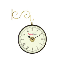 wowwacm804_r-ecraftindia-metal-analog-round-dual-dial-hanging-station-wall-clock-brass-black-dial-size-8-inch-size-15-12-inch_1