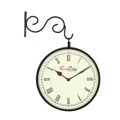 wowwacm805_r-ecraftindia-metal-analog-round-dual-dial-hanging-station-wall-clock-black-dial-size-8-inch-size-15-12-inch_1