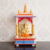 ecraftindia-white,-red-and-golden-mango-wood-pooja-temple/mandir-with-storage-option_2