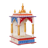 ecraftindia-white,-red-and-golden-mango-wood-pooja-temple/mandir-with-storage-option_3