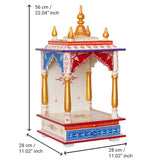 ecraftindia-white,-red-and-golden-mango-wood-pooja-temple/mandir-with-storage-option_4