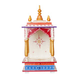 ecraftindia-white,-red-and-golden-mango-wood-pooja-temple/mandir-with-storage-option_5