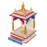 ecraftindia-white,-red-and-golden-mango-wood-pooja-temple/mandir-with-storage-option_6