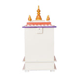 ecraftindia-white,-red-and-golden-mango-wood-pooja-temple/mandir-with-storage-option_7