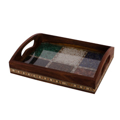 ecraftindia-multipurpose-gemstone-filled-6-sq-brown-wooden-utility-tray_1