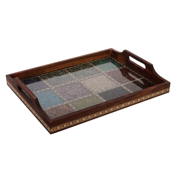 ecraftindia-multipurpose-gemstone-filled-12-sq-brown-wooden-utility-tray_1