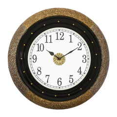 "WWCCWACM1610_F-eCraftIndia-Round-Antique-Finish-Multicolor-Handmade-Analog-Wooden-Wall-Clock-(16""-x-16""-Inch-