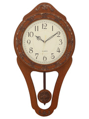 WWCK5109_BR-eCraftIndia-Decorative-Wooden-Brown--Pendulum-Wall-Clock_1