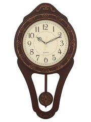 WWCK5109_D_IVORY_R_RW-eCraftIndia-Decorative-Wooden-Dark-Brown--Pendulum-Wall-Clock_1