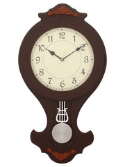 WWCK6177_D_IVORY_R_RW-eCraftIndia-Decorative-Wooden-Dark-Brown--Pendulum-Wall-Clock_1