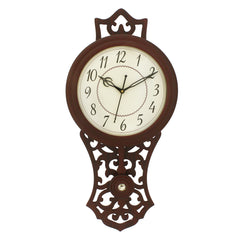 WWCK7157_ROSE_WOOD-eCraftIndia-Dark-Brown-Vertical-Wooden-Wall-Clock_1