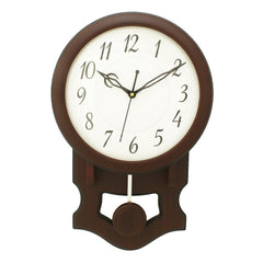 WWCK7167_ROSE_WOOD-eCraftIndia-Dark-Brown-Vertical-Wooden-Wall-Clock_1