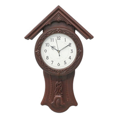 WWCK717_ROSE_WOOD-eCraftIndia-Brown-Circular-Dial-Vertical-Analog-Pendulum-Wall-Clock-(53Cm-X-33Cm)_1