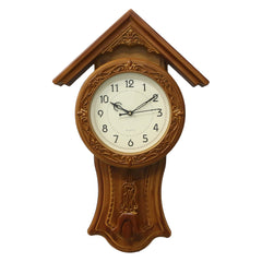 WWCK717_YELLOW-eCraftIndia-Yellow-Circular-Dial-Vertical-Analog-Pendulum-Wall-Clock-(53Cm-X-33Cm)_1