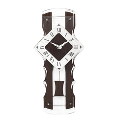WWCK8137_ROSE_WOOD-eCraftIndia-Brown-Wooden-Designer-Vertical-Analog-Pendulum-Wall-Clock-With-Curved-Glass-Front-Panel-(50Cm-X-24Cm)_1