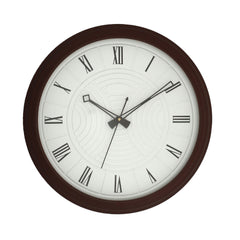 "WWCKC1507_ROSE_WOOD-eCraftIndia-Brown-Wooden-Designer-Round-Dial-With-Wooden-Finished-Frame-(36Cmx-36Cmx-3Cm)-(14""-x-14""-Inch-