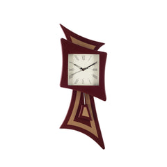 ecraftindia-decorative-analog-brown-square-pendulum-wall-clock_1