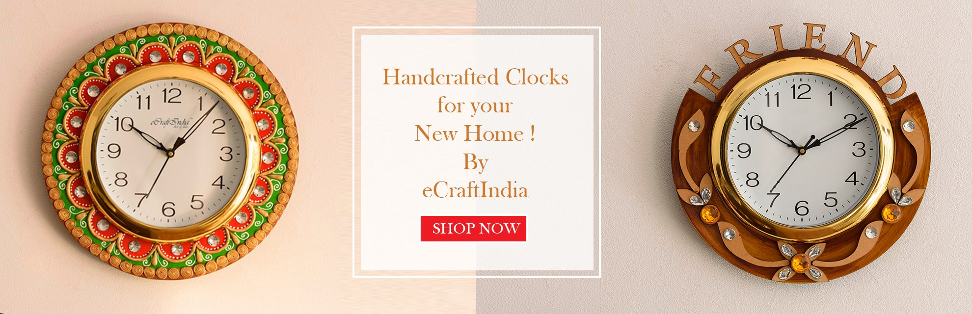 eCraftIndia Handcrafted Wall Clocks