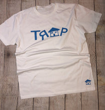 Load image into Gallery viewer, ***TRAP WHITE TEE*** (various logo color options)