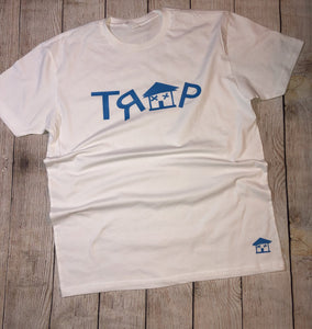 ***TRAP WHITE TEE*** (various logo color options)