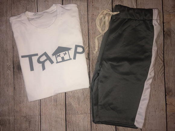 TRAP WHITE TEE (choose Trap color)