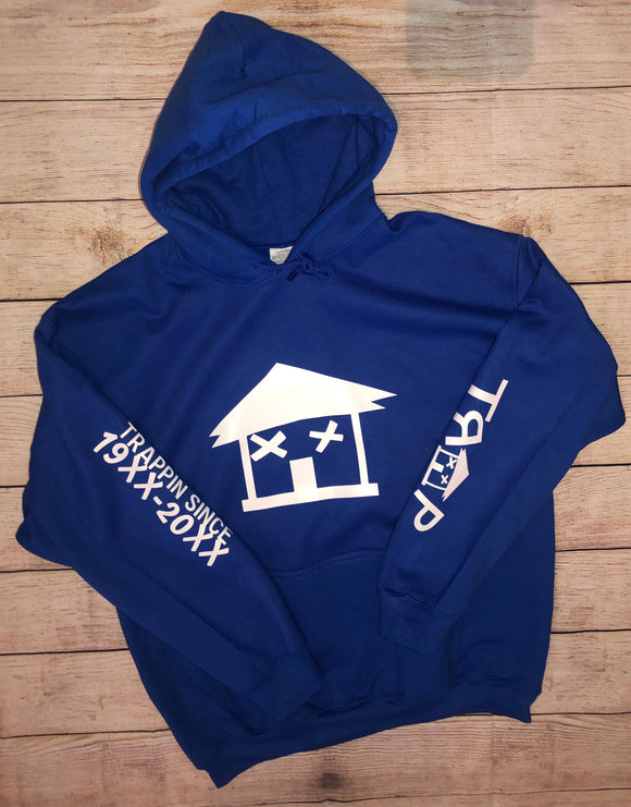 BIG TRAP HOUSE HOODIE ROYAL BLUE (UNISEX)