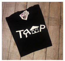 Load image into Gallery viewer, ***TRAP BLACK TEE *** (various logo color options)